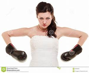 wedding bride in boxing gloves emancipation stock photo With boxing wedding dress