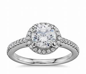 1 carat preset classic halo diamond engagement ring in With 1 carat wedding rings