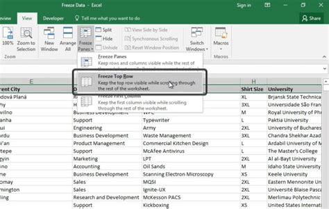 how to freeze how to freeze panes and rows in excel in 60 seconds