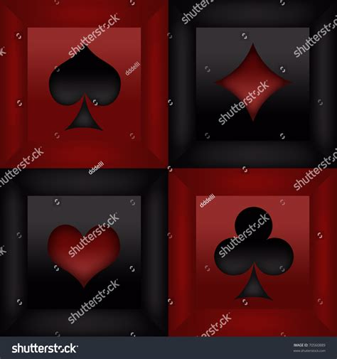 playing card suits frames stock illustration
