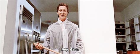 Christian Bale Axe Meme - american psycho gif find share on giphy