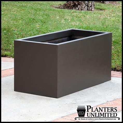 large rectangular planters large rectangular planter box modern rectangle planter