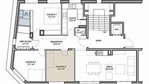 plan appartement cote maison With plan appartement 150 m2 7 plan maison moderne 120m2