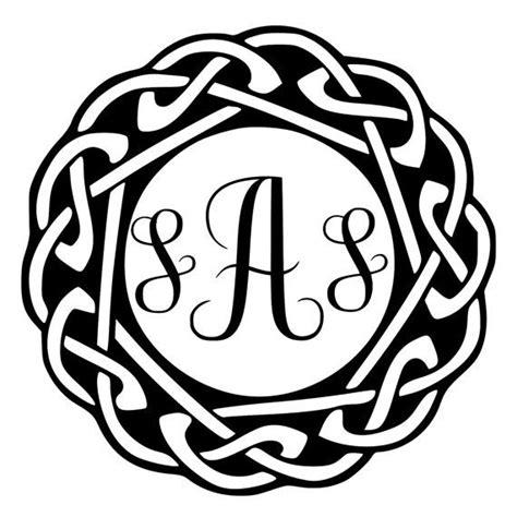 celtic  custom monogram initials