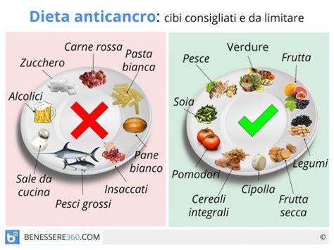 alimentazione per prevenire i tumori dieta anticancro alimenti da evitare e cibi contro i tumori