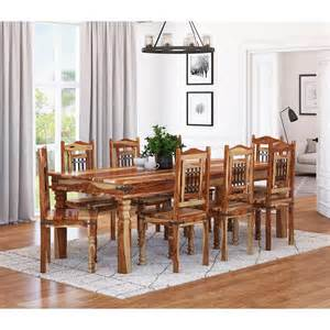 dallas classic solid wood rustic dining room table