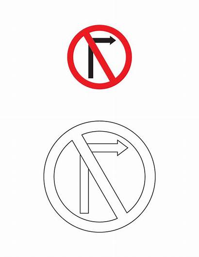 Traffic Signs Coloring Road Pages Sign Printable
