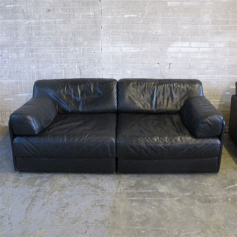 de sede ds 76 2 x ds 76 exclusiv sofa by de sede 1970s 34751