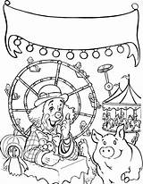 Coloring Fair Carnival Pages Roller Coaster State Clown Drawing Printable Tricycle Getcolorings Rated Riding Getdrawings Template Tocolor sketch template