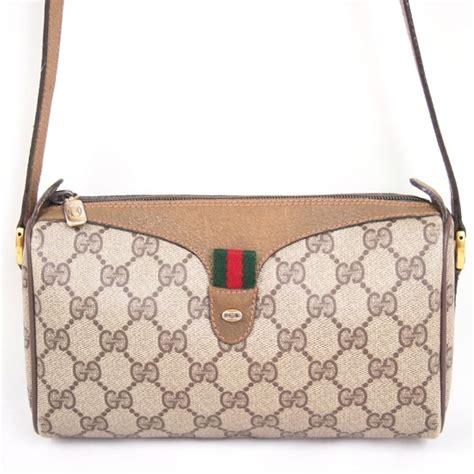 vintage gucci monogram square shoulder bag cross body handbag authentic ebay