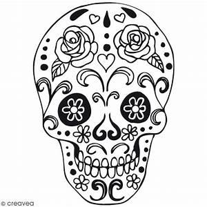 Tete De Mort Mexicaine Dessin : tampon bois t te de mort mexicaine 4 x 5 2 cm tampon ~ Melissatoandfro.com Idées de Décoration