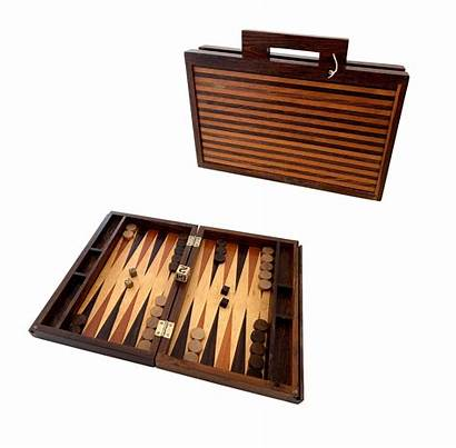 Backgammon Rosewood Pieces French Antique Larger Chess