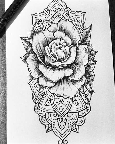 noche de tramas  puntillismo art tatoo desing flor