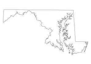 Maryland State Map Outline