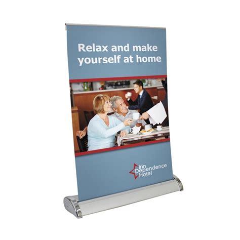 tabletop retractable banner    bracha printing