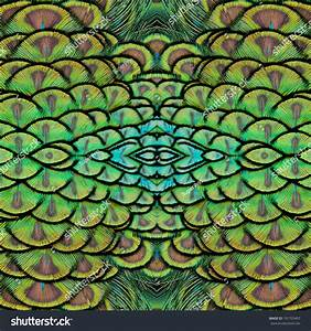 Background Pattern Made Green Indian Peacock Stock Photo ...