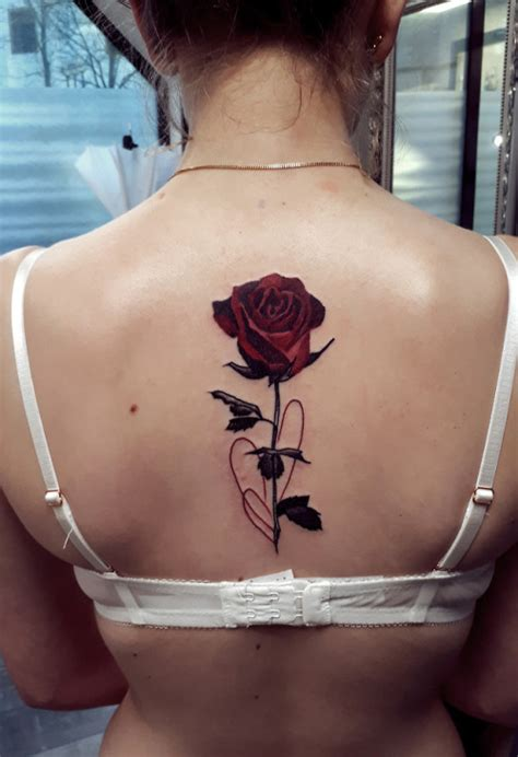 Flower And Roses Tattoo