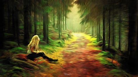 painting, Forest Wallpapers HD / Desktop and Mobile ...