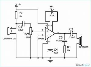 Lm386 Audio Amplifier Circuit Diagram In 2019