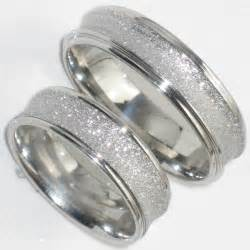 silver wedding band womens his hers 6mm sandblast wedding ring band str383w mens or womens steel ebay