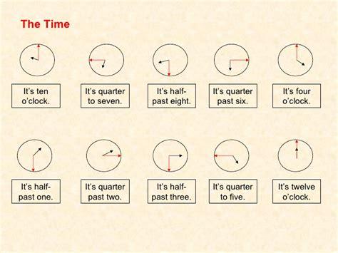 Time Worksheet Half Past