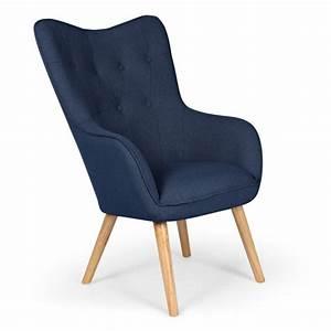 Fauteuil Bleu Scandinave : fauteuil scandinave aimee 67cm bleu ~ Teatrodelosmanantiales.com Idées de Décoration
