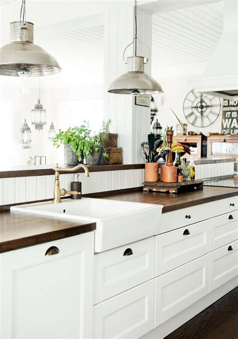 Farmhouse Kitchen Countertops by 31 Cozy And Chic Farmhouse Kitchen D 233 Cor Ideas Digsdigs
