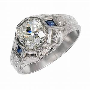 gia certified 192 carat diamond sapphire white gold men39s With mens 18 carat white gold wedding rings