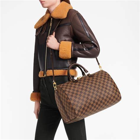 speedy bandouliere  damier ebene canvas handbags louis vuitton