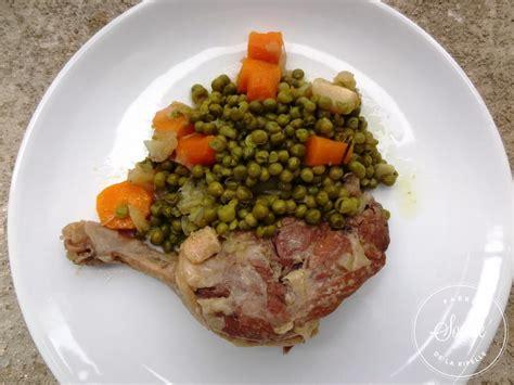cuisine petit pois canard aux petits pois cocotte minute la tendresse en