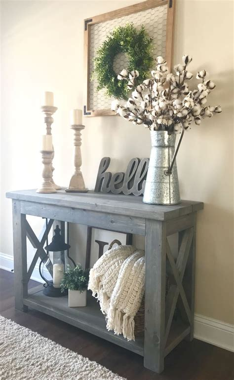 Decorating Ideas For Entry Tables by Modified White S Rustic X Console Table 48 Wide And