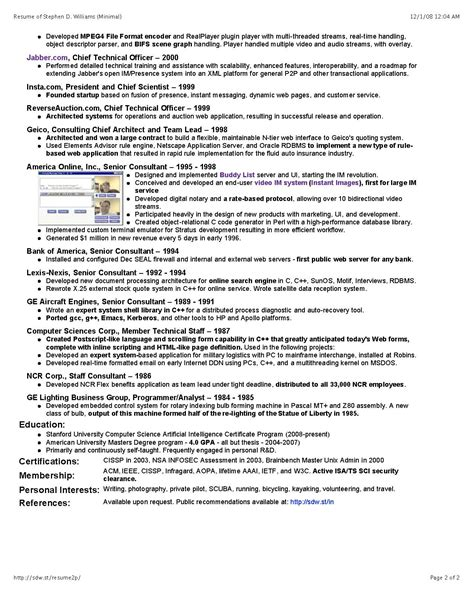 It Security Architect Resume by Sdw