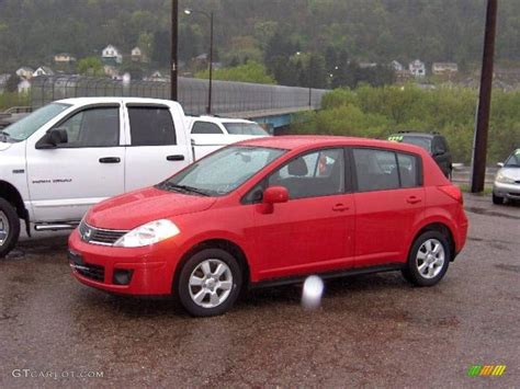 2007 Red Alert Nissan Versa S 11356318 Photo 6