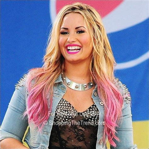 Demi Lovato Blonde And Pink Hair Beauty Demi Lovato