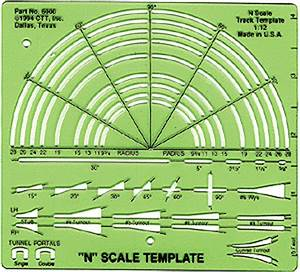 27 images of atlas turn out template canbumnet for Model railroad track templates