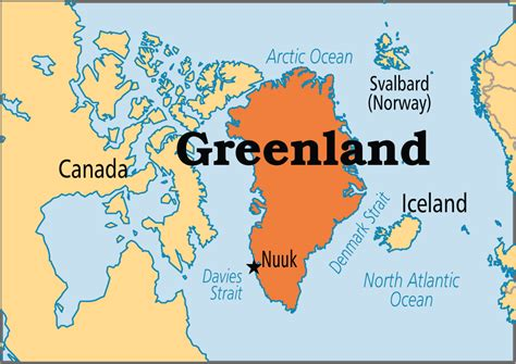 greenland capital map