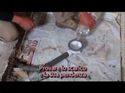 piatto doccia cubing montaggio scarico  muratura youtube