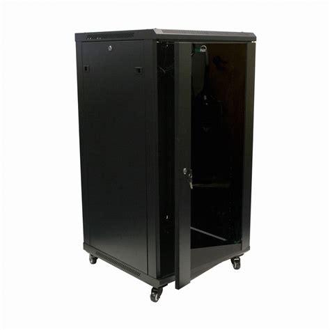 wall mount server cabinet 22u it wall mount network server data cabinet rack glass