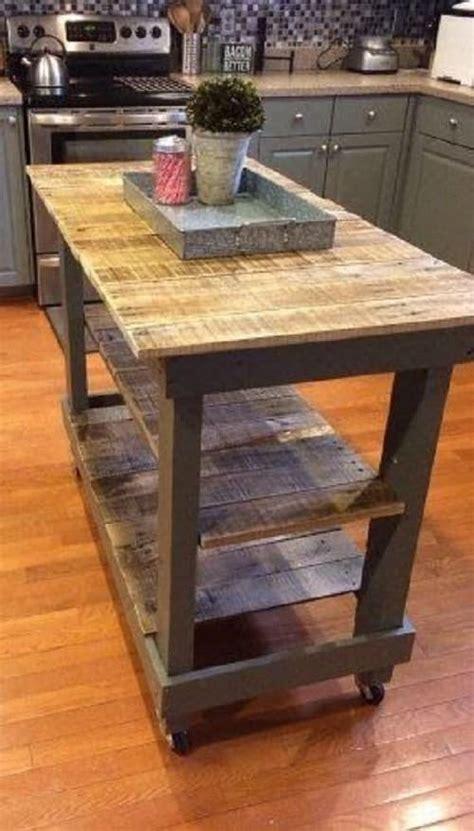creative gorgeous wood pallet kitchen island ideas
