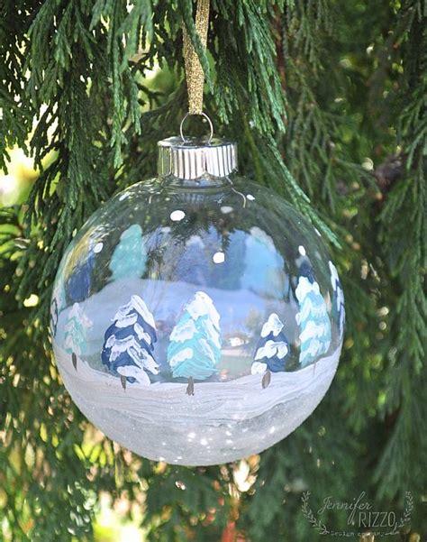 decoart blog crafts hand painted winter scene ornaments