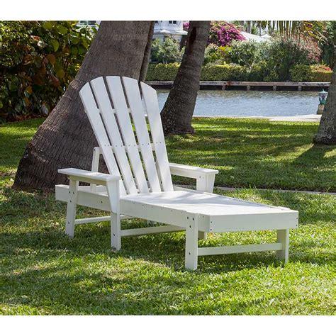 adirondack chaise polywood recycled plastic adirondack style chaise lounge