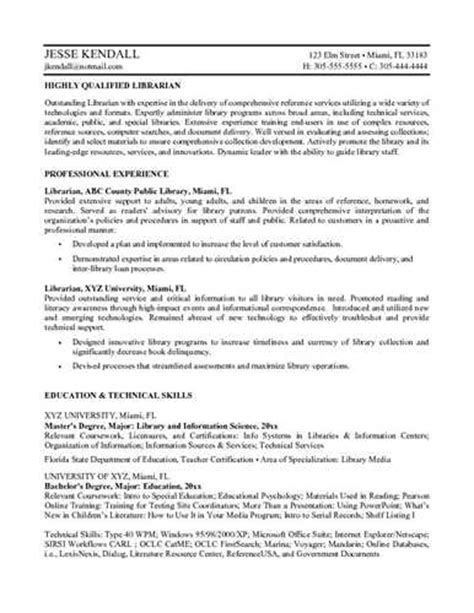 resume format for assistant librarian librarian resume objective
