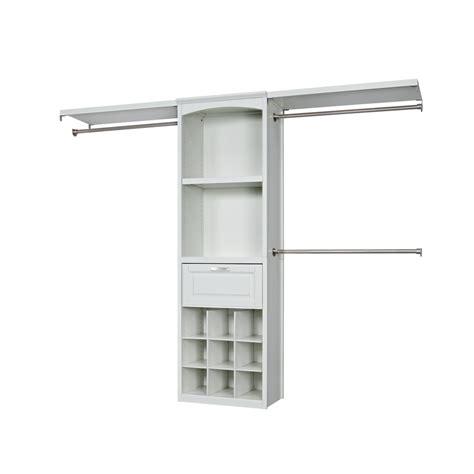 Wooden Closet Organizer Kits by Shop Allen Roth 8 Ft X 6 83 Ft Antique White Wood Closet