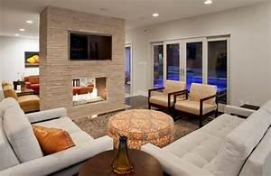 Deco Pour Salon : salon design avec chemin e deco maison moderne ~ Premium-room.com Idées de Décoration