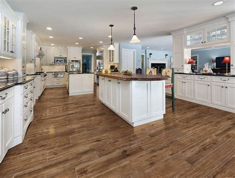 tile kitchen choosing wood grain tile for your floor bungalow home 2541