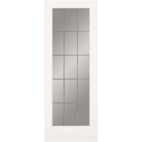 home depot interior glass doors masonite 30 in x 80 in sandblast lite solid