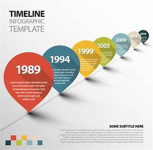 Infographic timeline vector template Free vector in Adobe ...