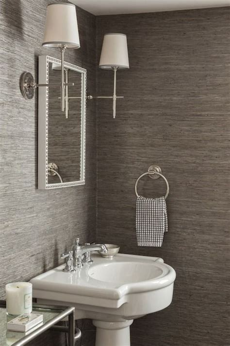 bathroom wallpaper powder room design powder room