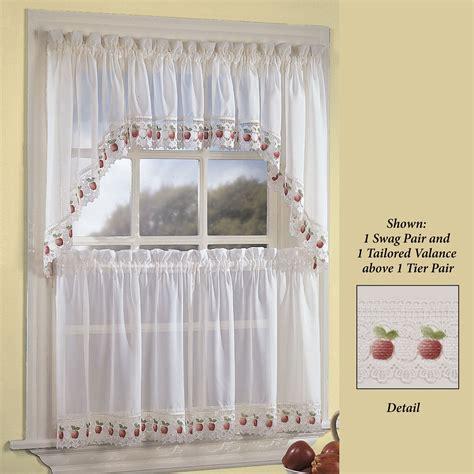 apple print kitchen curtains curtain menzilperde net