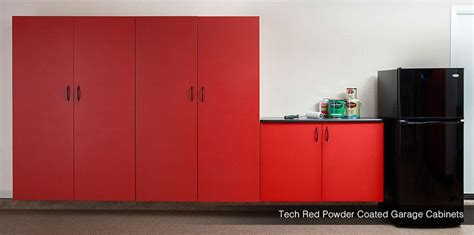 powder coated garage cabinets tech red granite